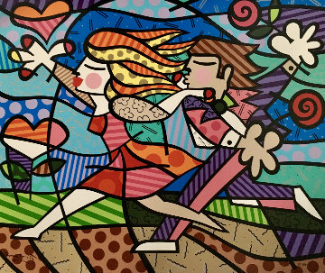 Love Blossoms 1998 Limited Edition Print - Romero Britto