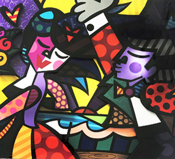 Follow Me 3-D 2006 Limited Edition Print - Romero Britto