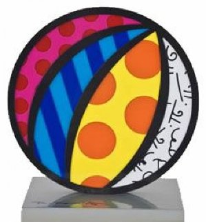 Valentines Heart, Beach Ball, Boom Fish, Big Apple, Set of 3 Iron Sculptures 2003  10 in Sculpture - Romero Britto