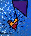 One Note Unique 2016 26x24 Original Painting - Romero Britto