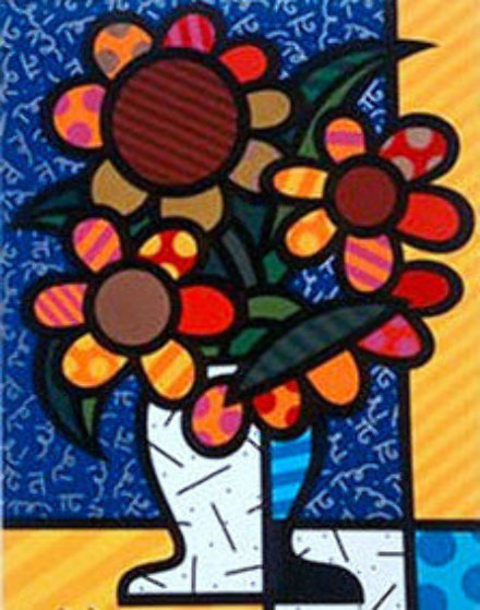 Sunflower   2015 3-D Limited Edition Print by Romero Britto