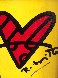 With Love 2017 14x13 Original Painting by Romero Britto - 0