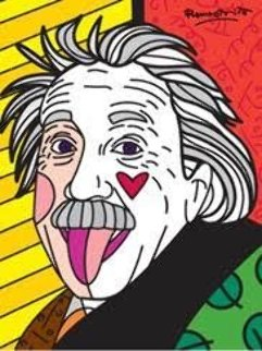 Einstein AP 2016 Limited Edition Print - Romero Britto