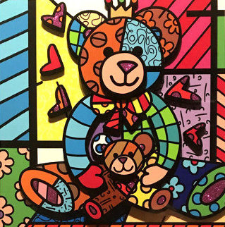 Teddy Teddy 3-D 2018 Limited Edition Print by Romero Britto