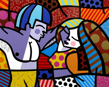 First Love 1996 Huge Limited Edition Print - Romero Britto