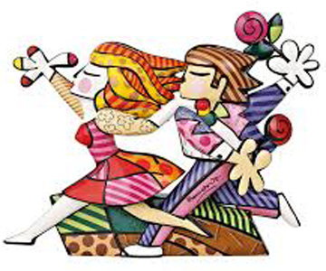 Love Blossoms Porcelain Sculpture 2011 18 in Sculpture - Romero Britto