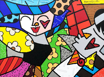 All Night Long 2005 30x40 Original Painting - Romero Britto