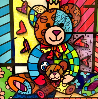 Teddy 3-D 2017 Limited Edition Print by Romero Britto