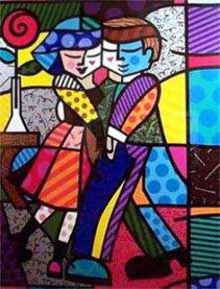 Cheek to Cheek 1999 Signed by Celebrities - Huge Limited Edition Print - Romero Britto