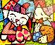 Happy Cat Snob Dog 3-D 2018 Limited Edition Print by Romero Britto - 0