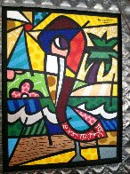 Colorful Florida Pelican   48x36 Huge Original Painting by Romero Britto - 1