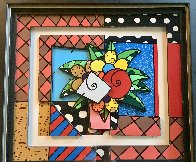 New Spring 3-D 2008 Limited Edition Print by Romero Britto - 3