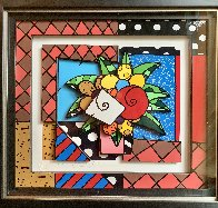 New Spring 3-D 2008 Limited Edition Print by Romero Britto - 1