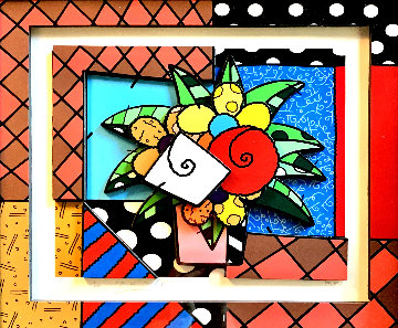 New Spring 3-D 2008 Limited Edition Print - Romero Britto