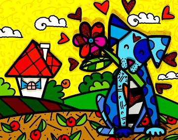 No Place Like Home 2017 3-D Limited Edition Print - Romero Britto