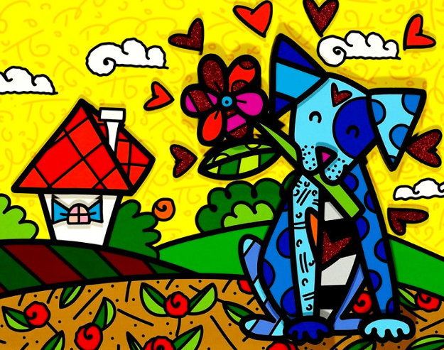 No Place Like Home 2017 3-D Limited Edition Print by Romero Britto