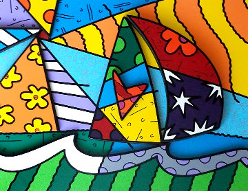 Sailing 2008 3-D Limited Edition Print - Romero Britto
