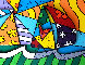 Sailing 2008 3-D Limited Edition Print by Romero Britto - 0