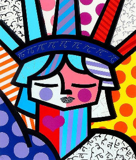Free 3-D 2007 Limited Edition Print by Romero Britto