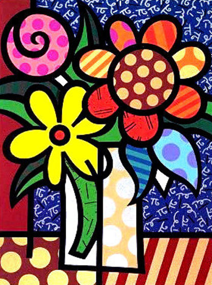 Van Britto 1998 Limited Edition Print by Romero Britto