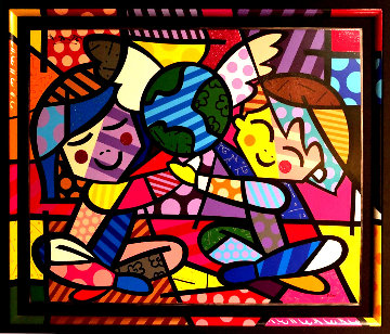 Children of the World 3-D 2006 Limited Edition Print - Romero Britto