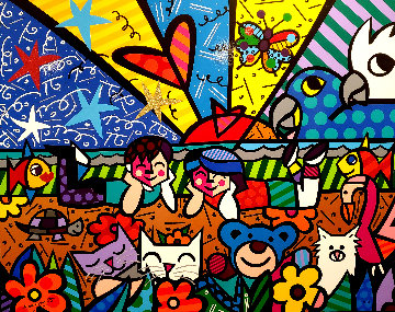 In the Park AP Limited Edition Print - Romero Britto