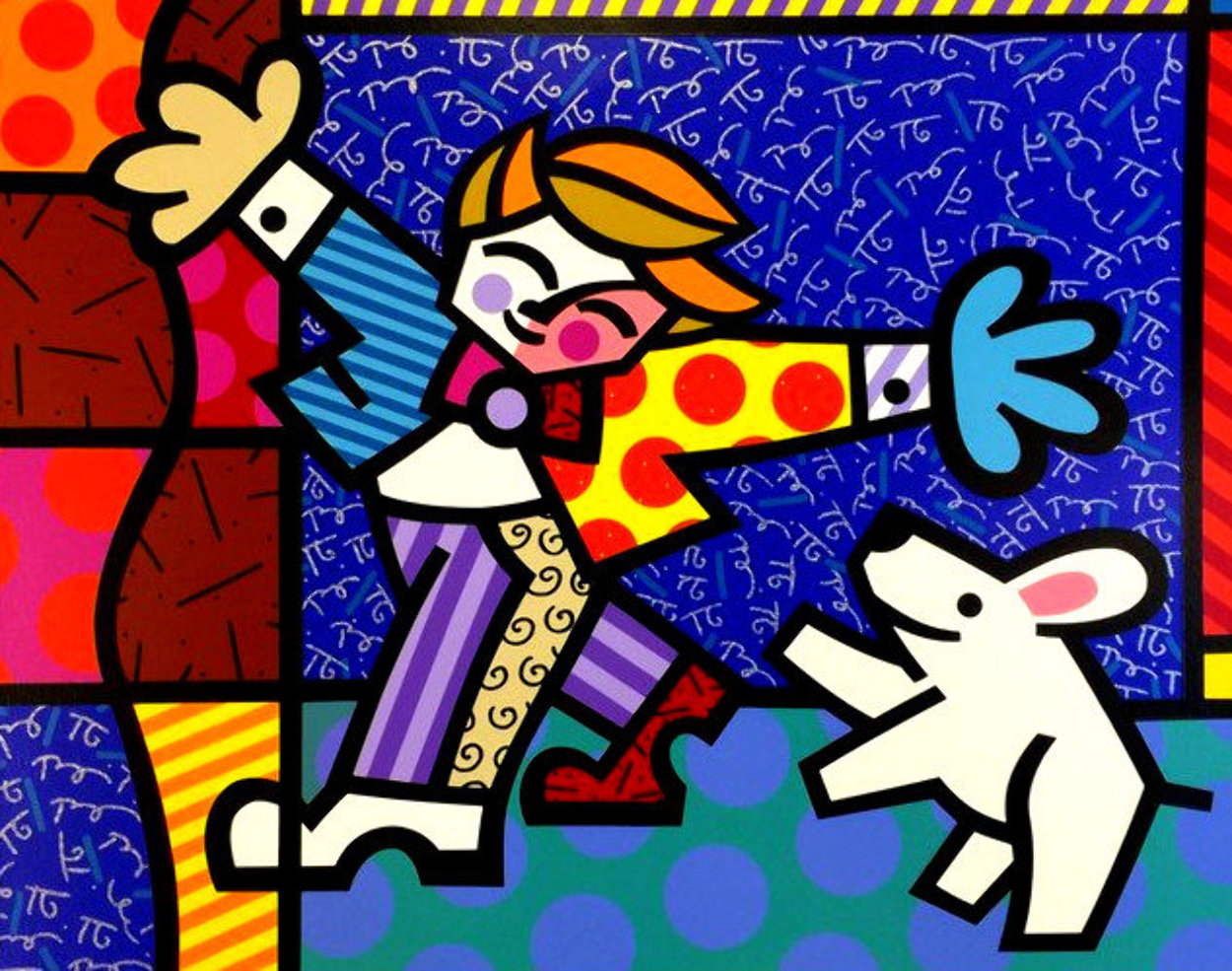 Brendan and the Wishing Dog PP Limited Edition Print by Romero Britto