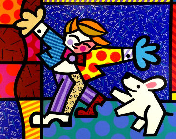 Brendan and the Wishing Dog PP Limited Edition Print - Romero Britto