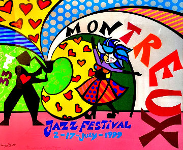 Montreux Jazz 33rd Festival 1999 Limited Edition Print - Romero Britto