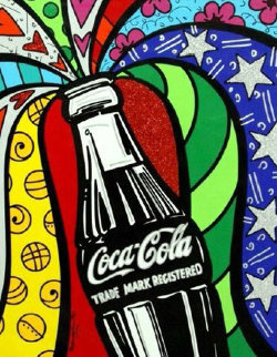 Coca Cola I  2016 Limited Edition Print - Romero Britto