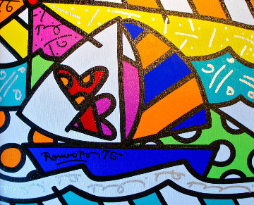 Love Ride 2002 24x28 Original Painting - Romero Britto