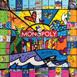 Monopoly® Miami   Board Game 2018 Limited Edition Print - Romero Britto