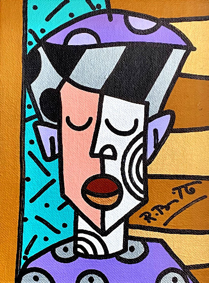 Untitled Painting 2004 14x12 Original Painting by Romero Britto
