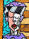 Untitled Painting 2004 14x12 Original Painting by Romero Britto - 0