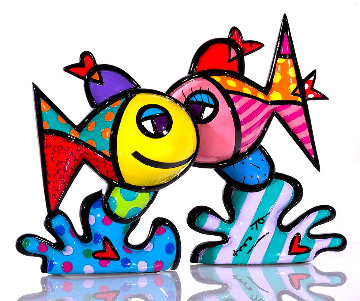 Deep Love Resin Sculpture 2019 11 in Sculpture - Romero Britto