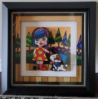 Girl With Dog 3-D 2016 Limited Edition Print by Romero Britto - 1