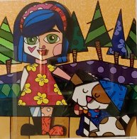 Girl With Dog 3-D 2016 Limited Edition Print by Romero Britto - 2