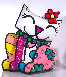 Red Flower (Large) Resin Sculpture 2019 22 in Sculpture - Romero Britto