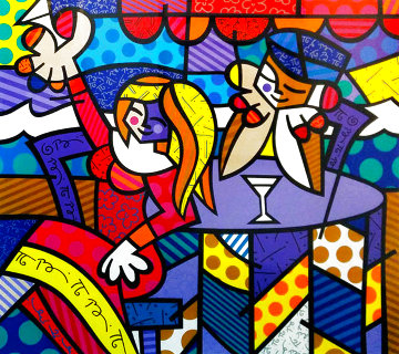 Doing Lunch 1997 Limited Edition Print - Romero Britto
