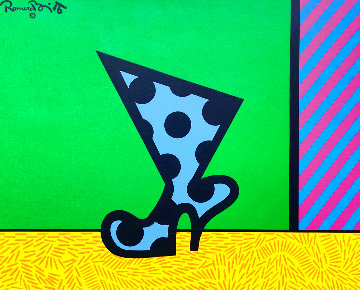 Boot 1990 26x32 Original Painting - Romero Britto