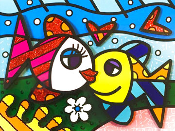 Happy Days  3-D 2016  Limited Edition Print - Romero Britto