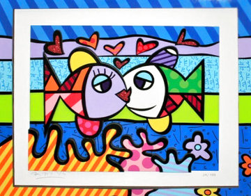 Atlantic Emotion 2017 3-D Limited Edition Print - Romero Britto