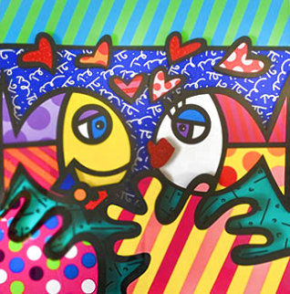 Deep Down 2018 3-D Limited Edition Print - Romero Britto
