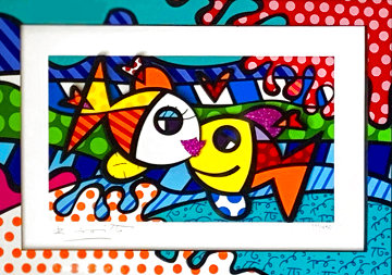 Deeply in Love Too 2017 3-D Limited Edition Print - Romero Britto