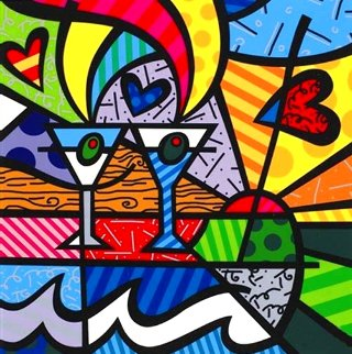Happy Hour 2005 Limited Edition Print - Romero Britto