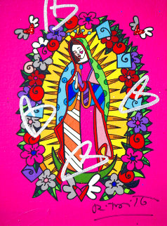 Santa Rosa Unique   2014 20x17 Original Painting - Romero Britto