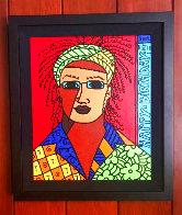 Davis 2002 24x20 Original Painting by Romero Britto - 1