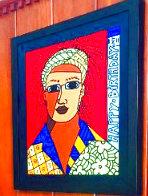 Davis 2002 24x20 Original Painting by Romero Britto - 2