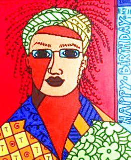 Davis 2002 24x20 Original Painting - Romero Britto