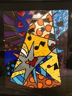 A Star is Born 2002 32x40 Huge Original Painting by Romero Britto - 1